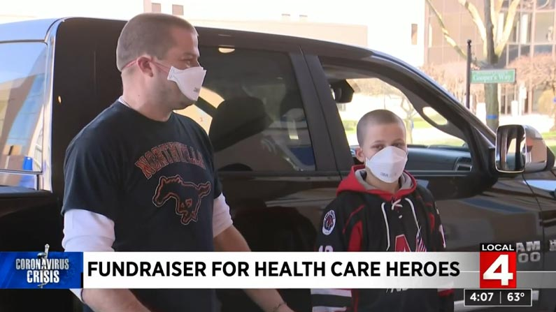Northville Family Raises Money to Support Healthcare Workers
